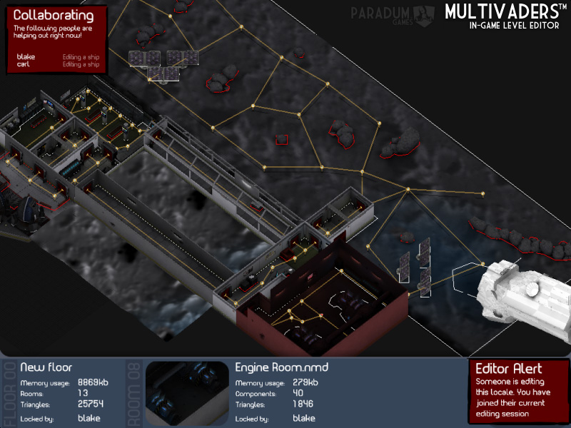 Multivaders level editor