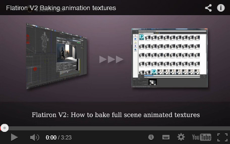 Flatiron 2.0 animation texture baking