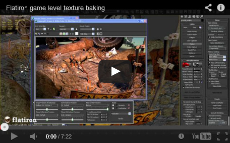 game level texture baking with Flatiron
