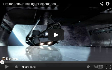 texture baking for cinematics with Flatiron