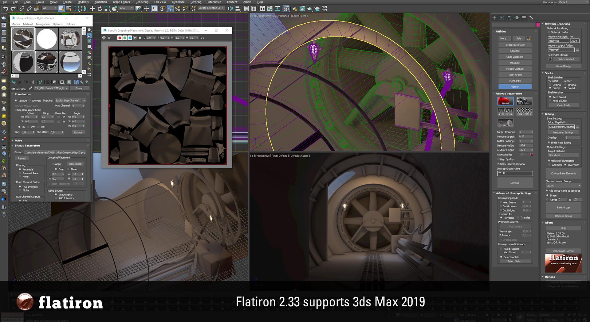 Flatiron 2 33 ready for Autodesk 3ds Max 2019! | Flatiron